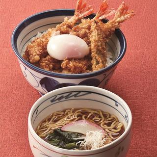 夜限定「天丼+小ラーメン」