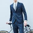 """""""自転車通勤のビジネスマン向け""""機能性スーツを発売 ~5箇所の通気口を備えたアクティブスーツを「ナリフリ」と共同開発~"""