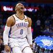 【NBA】史上2人目の大記録 ウェストブルックが51年ぶりの「ダブル・トリプル・ダブル」達成