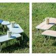 人気の囲炉裏テーブルから、自由に囲めて単体使用もできる新型登場!「囲炉裏ラックテーブル」シリーズ新発売!