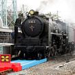 「実物大プラレール」と本物SL「C62形蒸気機関車」の共演、京都鉄道博物館で再び!