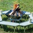 囲炉裏スタイルも作れる!キャンプテーブルは汎用性の高さも大事です
