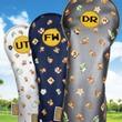 「スーパーマリオブラザーズ」モチーフのゴルフアイテムが登場。軽量タイプのキャディバッグとヘッドカバー3種