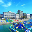 勝浦中央海水浴場に今夏7月、千葉県初!全長180m超のBIGアトラクション!「勝浦ウォーターアイランド」が誕生!!︎