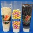 子供やお年寄りでも絞りやすい「チューブ型パウチ」が画期的!固形物や顆粒状調味料にも対応