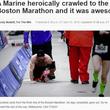 ボストンマラソンを這って完走 「亡き友3人のために」走った元海兵隊員(米)<動画あり>