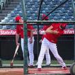 【MLB】大谷翔平、フリー打撃で137メートル超の特大弾 球団が異例の飛距離発表