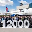 エアバス通算1万2000機目をデルタ航空へ引き渡し