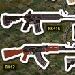 サバゲー好き必携!SCAR-L、P90、M4A1などの人気銃がアクリルキーホルダーとなって「THE GUNくじ」にラインナップ!!