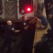 地下鉄ホームで電車の音に驚いて線路に飛び込んでしまった猫。警官による救出大作戦(アメリカ)