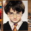 色鉛筆で描いたハリーポッターが超リアル!制作に50時間、作者「ひたすら優しいタッチで塗り重ねていった」