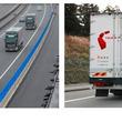 5G活用のトラック隊列走行、ソフトバンクが実証実験 車間距離を自動制御