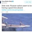 ロシア海軍元提督「戦争中じゃないんだから食後に日光浴したって問題ないさ」――米露軍艦同士の異常接近事件を受けて