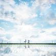 鳥取に「ウユニ塩湖」があった!? 雨あがりの水田が異次元クラスの美しさ