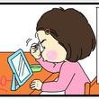 """ママ見て! 娘が""""綿棒""""で眉毛をそろえて見せてきた漫画反響「かわいい」「優しいママ」"""