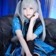 """青×黒のコントラストで魅せる!話題の美女コスプレイヤー・うらまるの""""猫耳メイドショット""""がクール&キュート"""