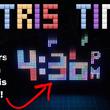 テトリミノが降ってくる『テトリス』時計を作ってみた