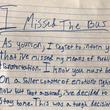 バスに乗り遅れて学校をサボった少年 母親に宛てた『弁明書』に全米が爆笑