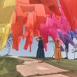 西日本最大250万輪の豪華ゆりと琵琶湖の絶景風景  新企画!高島ちぢみの虹のカーテン誕生!!