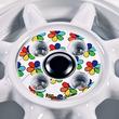 花柄ステッカーも選べるフローラルなホイール|JWLーT規格で軽トラOK|老舗メーカーの通販にあり!