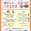 【公開講座】9月8日(日)上智大学にて開催。「猫さんと もっと お近づきになる方法」 主催:一般社団法人家庭動物共生教育支援フォーラム(以下、略称FAES)