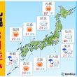 7日 東京は極めて涼しい 札幌は8月並みの暑さ
