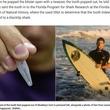サメに襲われた男性、25年後に足からサメの歯がポロリ(米)