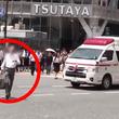 ワザとかと疑ってしまうようなタイミングで救急車の前を横切る男性が物議!「他人の命より自分の都合か」