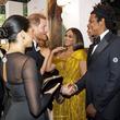 ヘンリー王子&メーガン妃、ついにビヨンセ夫妻と対面 『ライオン・キング』ロンドンプレミアで