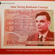 暗号解読の英数学者チューリング、新50ポンド紙幣の肖像に