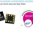 STマイクロエレクトロニクス:耐久性とセキュリティに優れたスマートキーを実現する堅牢かつ低消費電力の車載用加速度センサを発表