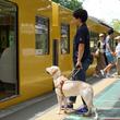 練馬区役所と西武鉄道の施設で、アイメイト(盲導犬)の実践的な訓練開始から2周年