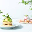 夏限定メニュー!メロンや白桃を贅沢にトッピングしたふんわりパンケーキ