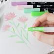 形や太さが異なる3種類の水筆『TOMBOW WATER BRUSH』を使えば、水性マーカー「ABT」の表現の幅がもっと広がる!