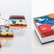 切る度に三日月から満月へと鳥が羽ばたき絵柄が変化する和菓子「羊羹ファンタジア」