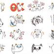 """DHC LINE公式アカウント『タマ川 ヨシ子(猫)』新作LINEスタンプ登場第19弾は""""手描き風ヨシ子""""で過去人気スタンプを再現!"""