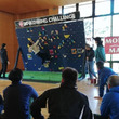兵庫で行われるよしもと芸人×パラスポーツ体験イベントにて、NPO法人モンキーマジックがクライミング壁を仮設し、パラクライミング体験を実施