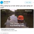 水上テント「Shoal Tent」に恐怖心持った人多数