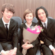 戸田恵子、宮沢氷魚&藤原季節と3ショット「ただの同性愛の映画じゃありません!」