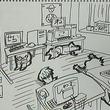 『エアーマンが倒せない』を歌うTeam.ねこかん[猫] 作業部屋をイラストで公開