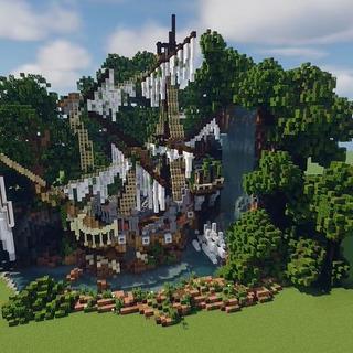 マイクラで「森の中の朽ちた船」を作ってみた……