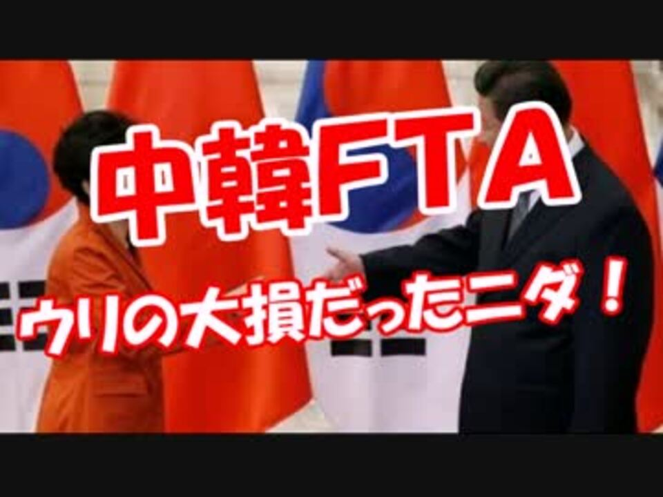 中韓FTA】 ウリの大損だったニダ! - ニコニコ動画